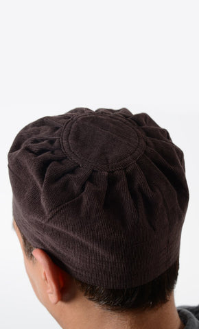 Brown Corduroy Kufi_Brown_Front_View