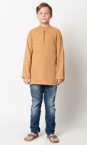 Basic zip open Boy Tunic_As Pictured_Front_View