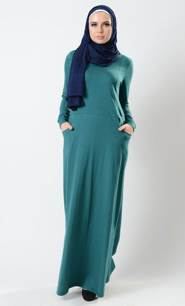 1923c3da709 Eastessence presents Sporty straight fit basic abaya dress available only  at eastessence.com.