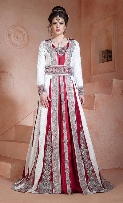 Embroidered Wedding Long Sleeve Dress  Kaftan-Final sale