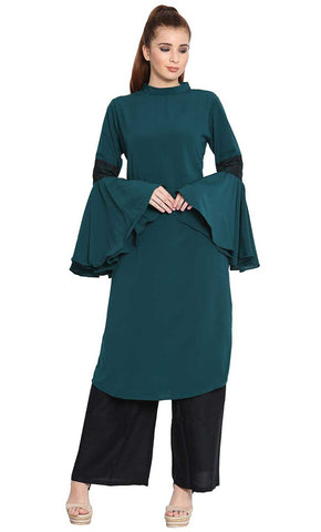 Aaima bell sleeves long kurti-Final sale