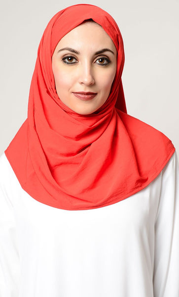 Everyday plain hijab_As Pictured_Front_View