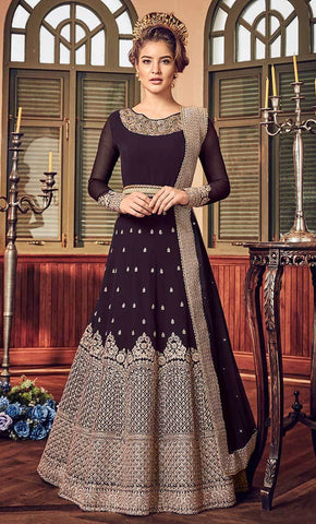 Traditional Jardoshi Cording Work With Crystal & Ready Lace salwar kameez-Final sale