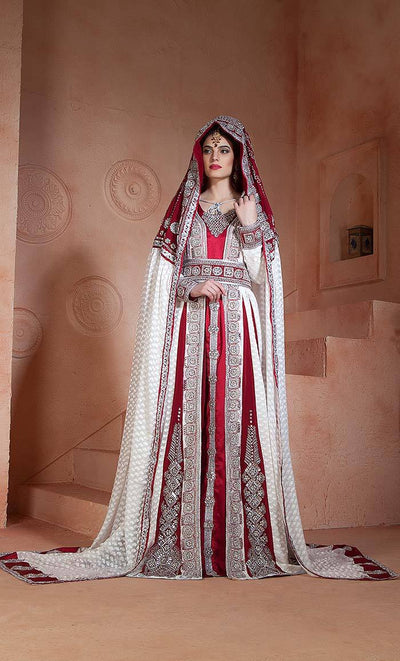 Handmade  Moroccan Wedding Long Sleeve Dress Kaftan-Final sale