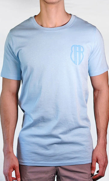 Men's Blue Tee - Small Logo - Final Sale Item_As Pictured_Front_View