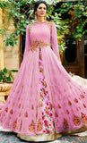 Embroidered Long flared Gown Dress_As Pictured_Front_View