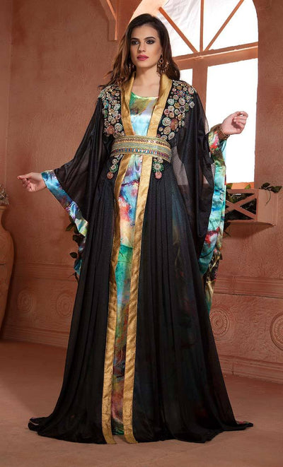 Partywear Moroccan Style Dubai Dress-Final sale