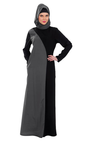 Basic Slip-on Abaya Dress_As Pictured_Front_View