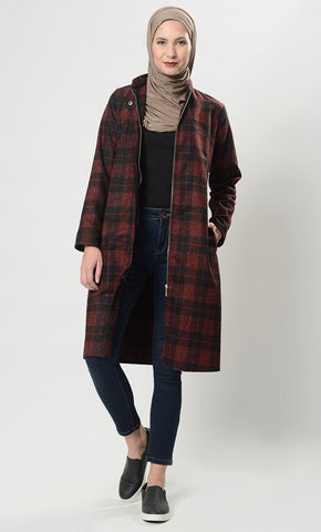 Cold Plaid Game Jacket