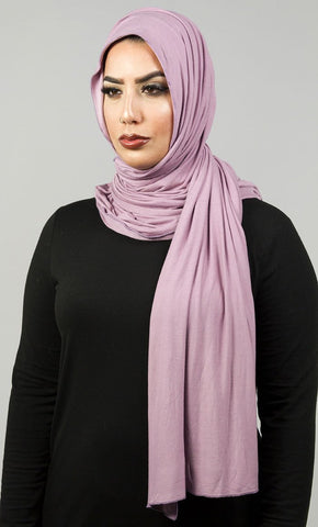 Premium Viscose Jersey Hijab-Lilac_Lilac_Front_View