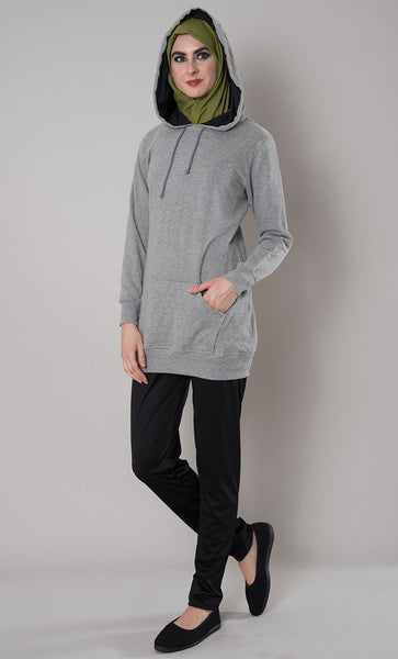 Made In England Hoodie_Grey_Front_View