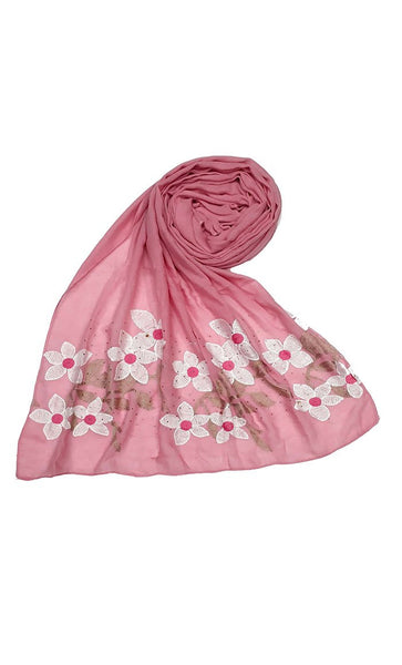 Pink floral Ari work hijab-final sale