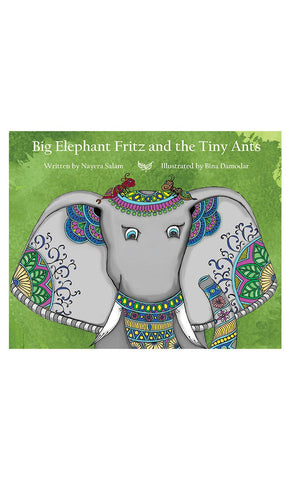 Big Elephant Fritz and the Tiny Ants - Final Sale Item_Front_View