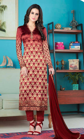 Abstract print everyday salwar kameez-Sizes XS-3XL_As Pictured_Front_View