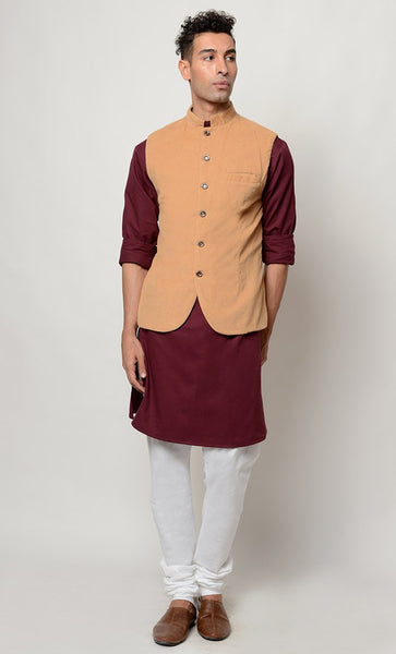 Party wear Kurta pajama and vest dress_As Pictured_Front_View