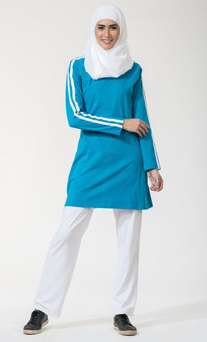 Basic  Workout Pant_Turquoise(Out of stock)_Front_View