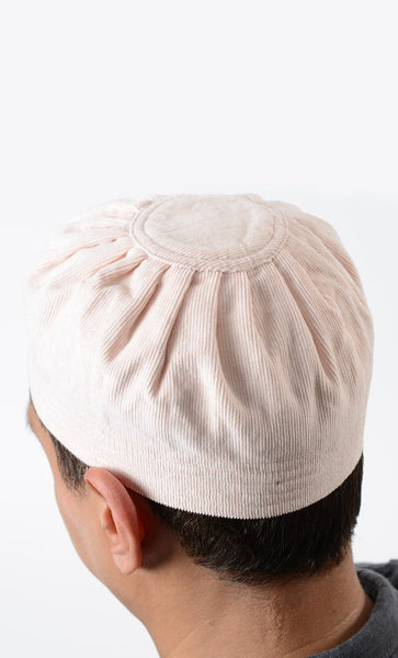 Light Pink Corduroy Kufi_Light Pink_Front_View