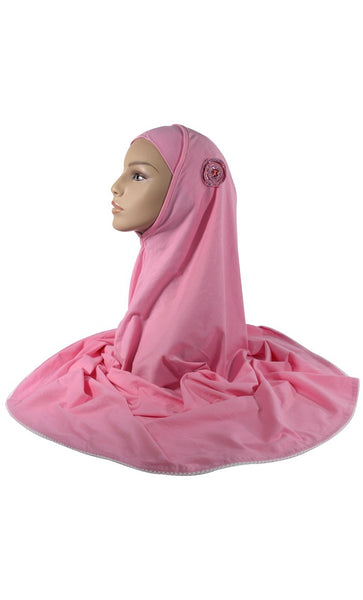 Pink 2 Piece Hijab_As Pictured_Front_View