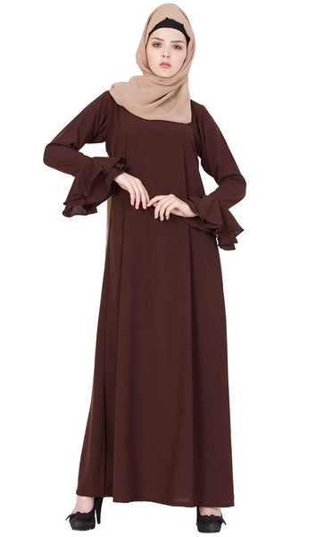 Extended sleeves A line abaya dress-Final sale