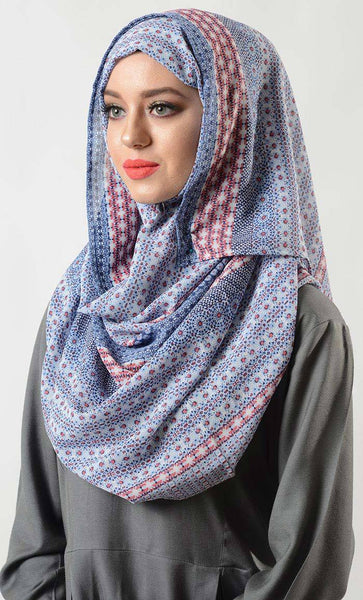 Malay Print Hijab- Final Sale Item_As Pictured_Front_View