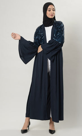 Dazzle up Shrug- Navy