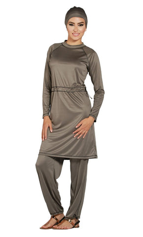 Ramady Burqini Swimsuit - Final Sale_Grey_Front_View