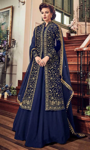 Elegant Traditional Resham Work With Jari & Crystal Salwar kameez-Final sale