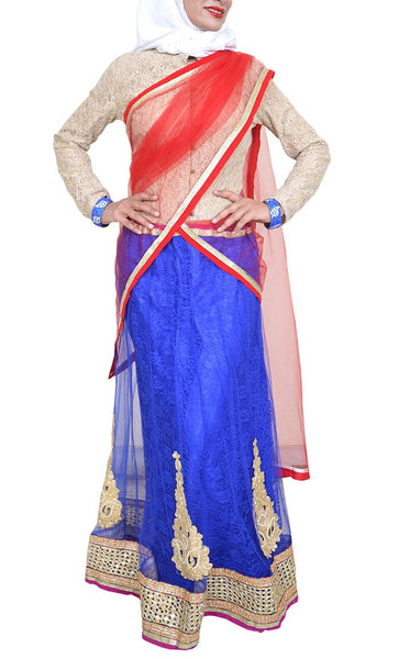 Azim Party wear Lehenga Saree - Final Sale Item_As pictured_Front_View