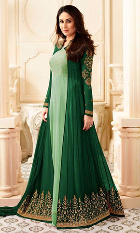 Embroidered Georgette Anarkali Gown_As Pictured_Front_View