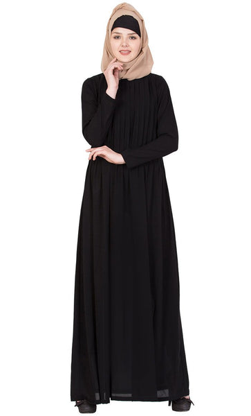 Comfortable soft Nida solid abaya-Final sale