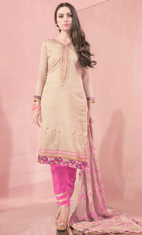 Floral Embroidered Work salwar kameez-Final sale_As Pictured_Front_View