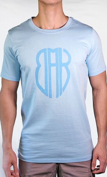 Men's Blue Tee - Large Logo - Final Sale Item_As Pictured_Front_View