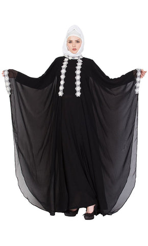 Queen designer black abaya dress