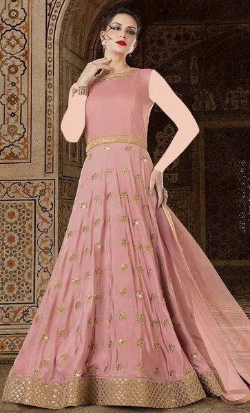 Designer Jardoshi Cording Work Long Gown dress-Final sale item_As Pictured_Front_View
