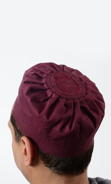 Maroon Cotton Sandal Kufi_As Pictured_Front_View