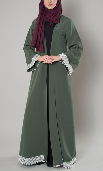 Lace Trim Duster Shrug_As Pictured(Out Of Stock)_Front_View