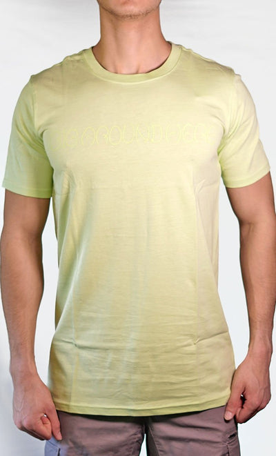 Men's Green Tee - Name Logo - Final Sale Item_As Pictured_Front_View