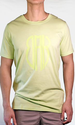 Men's Green Tee - Large Logo - Final Sale Item_As Pictured_Front_View