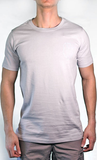 Men's Grey Tee - Small Logo - Final Sale Item_As Pictured_Front_View