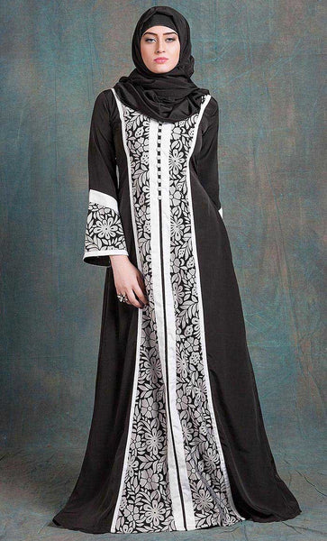 Black and White Color Formal Party Wear Dress- Final Sale_As Pictured_Front_View