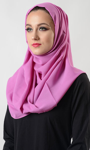 Lilac Moss Crepe Hijab_Lilac_Front_View