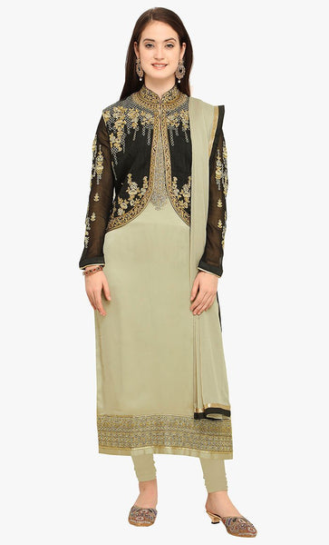 Jardoshi and cut work Long salwar kameez-Final sale