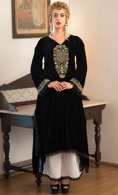Black and White Formal salwar kameez style Dress-Final sale