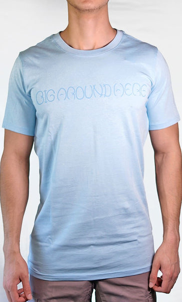 Men's Blue Tee - Name Logo - Final Sale Item_As Pictured_Front_View
