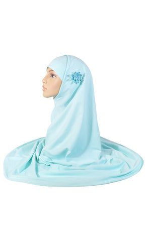 Aqua Marine Al- Amirah Hijab_As Pictured_Front_View