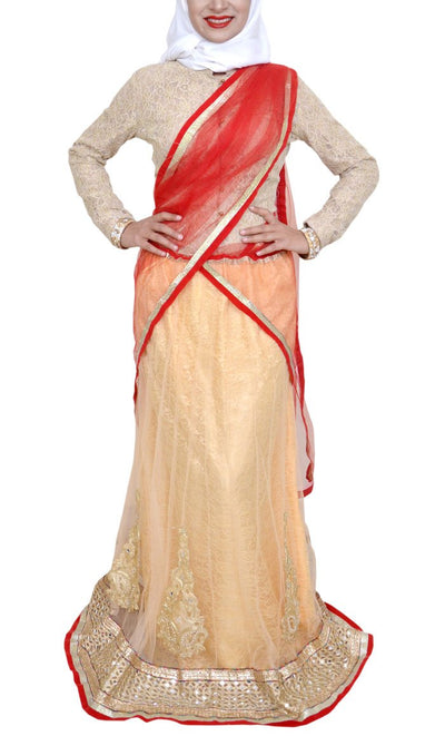 Azim Lehenga Saree - Final Sale Item_As pictured_Front_View