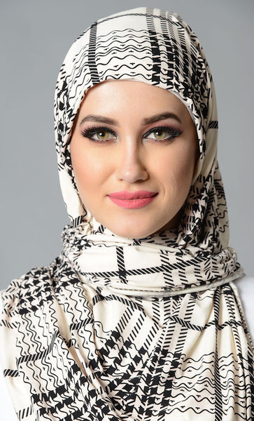 Viscose Lycra Everyday Hijab_As Pictured_Front_View