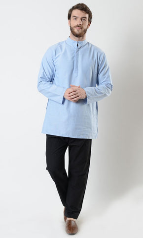 Mens Basic Half Open Front Tunic - EastEssence.com