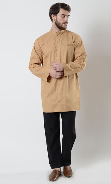 Mens Button Down Tunic - EastEssence.com