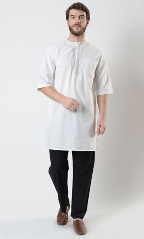Mens Embroidered Short Sleeve Tunic - EastEssence.com